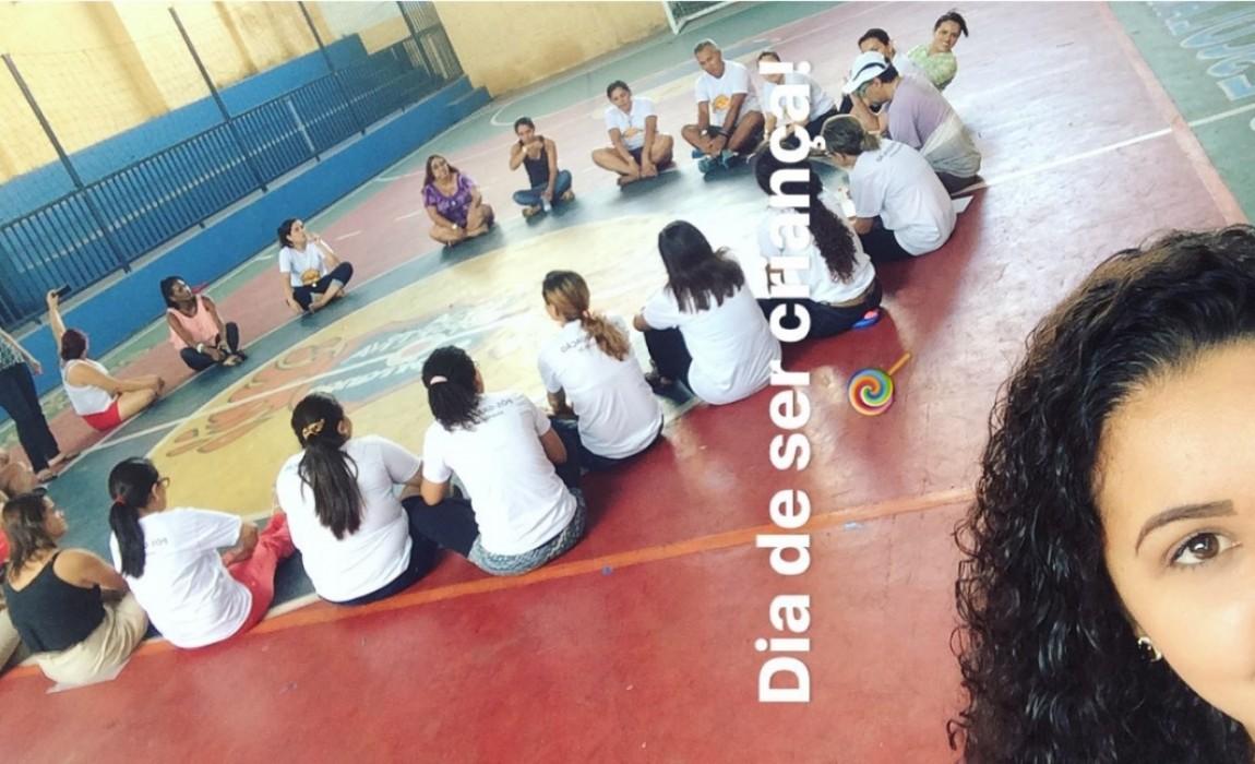 Aula de psicopedagogia (dinâmica em grupo)